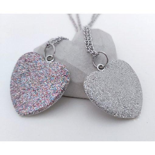 Anya-Lánya csillogó szív beton nyaklánc